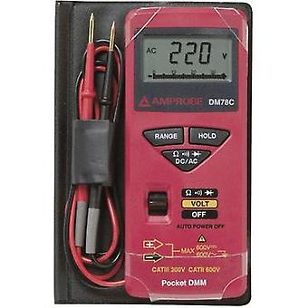 Handheld multimeter digital Beha Amprobe DM78C Calibrated to: Manufacturer standards CAT II 600 V, CAT III 300 V Displa