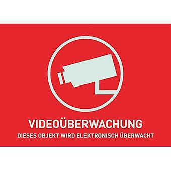 Warning label CCTV Languages German (W x H) 74 mm x 52.5 mm ABUS AU1321