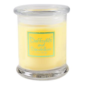 Lily Flame Scented Candle in Decorative Jar - Daffodils and Dandylions