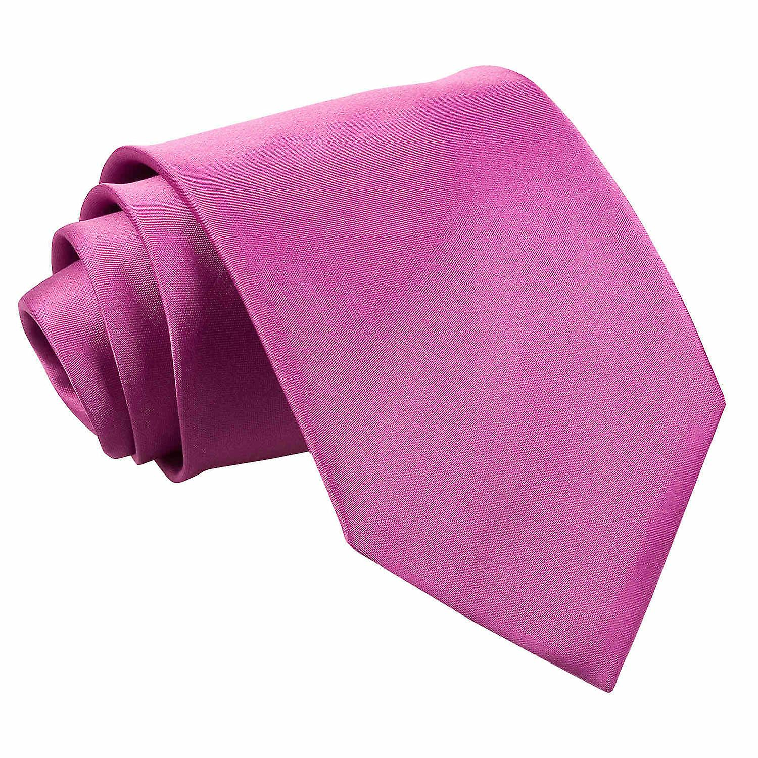 Plain Mulberry Satin Extra Long Tie