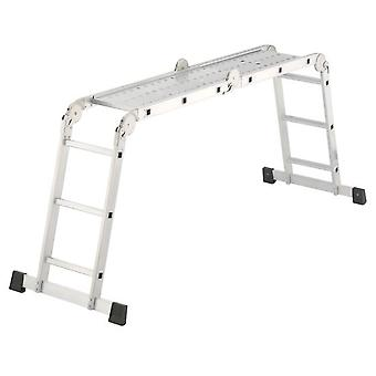 Hailo Combined ladder Aluminum Combi 4x3 (4x3 Rungs) (DIY , Construction , Stairs)
