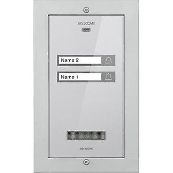 Door intercom Corded Outdoor panel Bellcome APA.2F002.BLS Semi-detached Silver