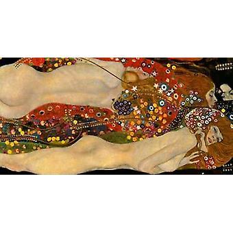 طباعة ملصق الثعابين البحر الخامس من غوستاف كليمت
