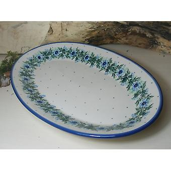 Plate, oval, 45.5 x 27 cm, tradition 7 - polish pottery - BSN 60110