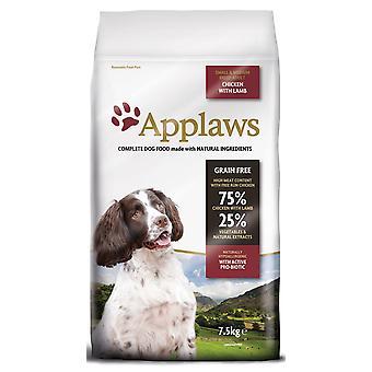 Applaws hund tør voksen SMG/med racen lam 7,5 kg