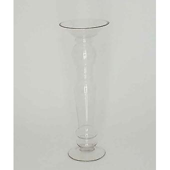 45cm Clear Glass Candlestick Decoration