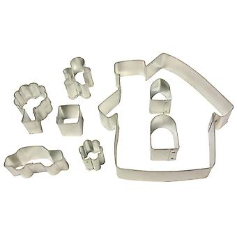 Dexam Make and Bake Gingerbread Cottage Cookie Cutter Set