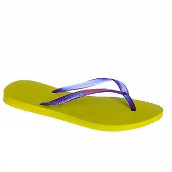 Havaianas Slim Logo 4119787 5209 Damen Meer Schuhe