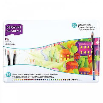 Derwent Academy Colouring Pencils 36 Tin~