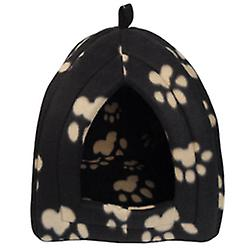 Igloo - Small Portable Foldable Travel Pet / Dog / Cat Bed / House - Brown / Cream