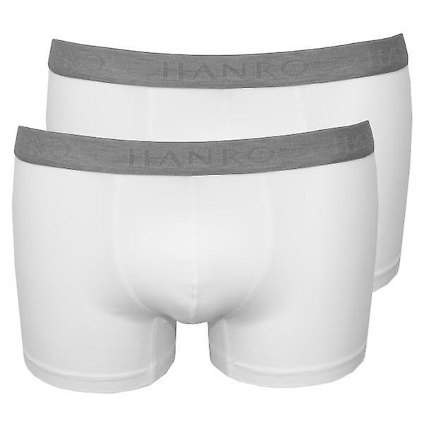 Hanro 2-Pack Cotton Essentials Boxer Trunks, White