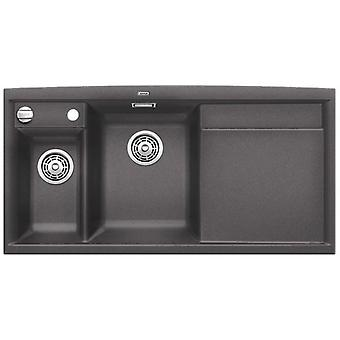 Blanco Axia Ii 6S sink drainer gray rock right