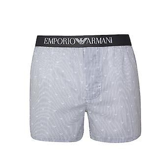 Emporio Armani Grey Stripe Eagle Cotton Boxers