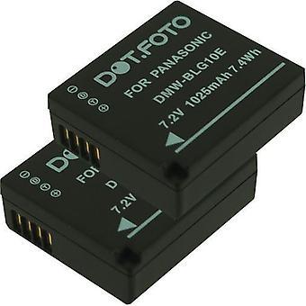 2 x Dot.Foto Panasonic DMW-BLE9, DMW-BLE9E, DMW-BLG10, DMW-BLG10E batteri