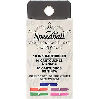 Speedball Fountain Pen Ink Cartridges Set-10/Pkg SB2906