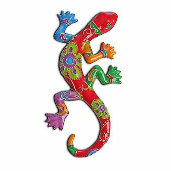 Bright Coloured Lizard Ornament for the Garden in Pink