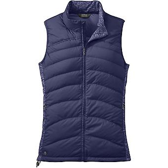 Outdoor Research Womens PLaza Down Vest Blue Violet (UK Size 12)