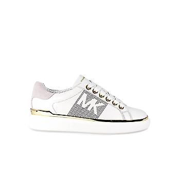 MICHAEL KORS MAX LACE UP WHITE/GOLD SNEAKER
