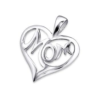 Mom - 925 Sterling Silver Plain Pendants - W21704x