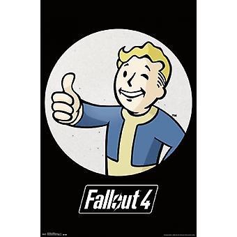 Fallout - Vault Boy Poster Poster afdrukken