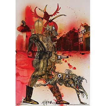 Hell Hound Fahrenheit 451 Poster Print por Ralph Steadman (24 x 34)