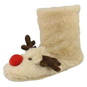 Unisex Spot On Reindeer Slippers