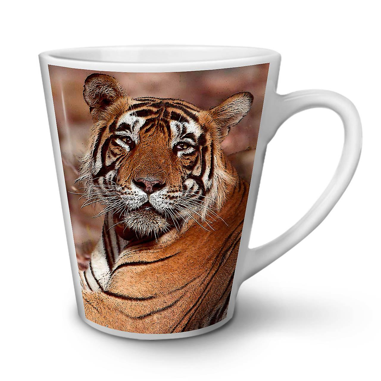 Latte OzWellcoda Blanche 12 Tigre Chat En Photo Tasse Café Céramique Animaux Nouvelle nwPkX80O