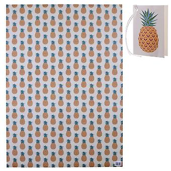 Pineapples Wrapping Paper and Gift Tags Set