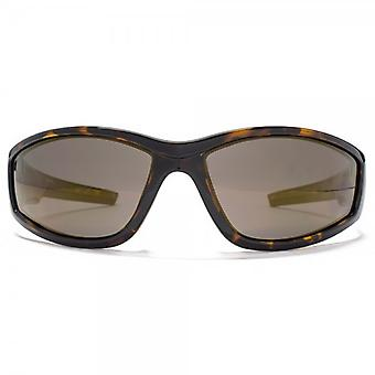 Freedom Polarised Sport Wrap Sunglasses In Tortoiseshell