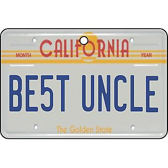 California - Best Uncle License Plate Car Air Freshener