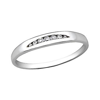 Band - 925 Sterling Silver Jewelled Rings - W28618X