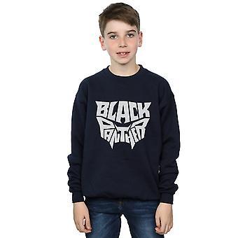 Marvel Boys Black Panther Worded Emblem Sweatshirt