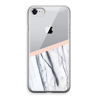 iPhone 8 桃の半透明ケース (ソフト) - A タッチします。