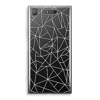 Sony Xperia XZ1 gjennomsiktig sak (myk) - geometriske linjer hvit