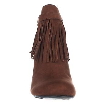 MG35 Persia Fringe Ankle Boots, Cognac