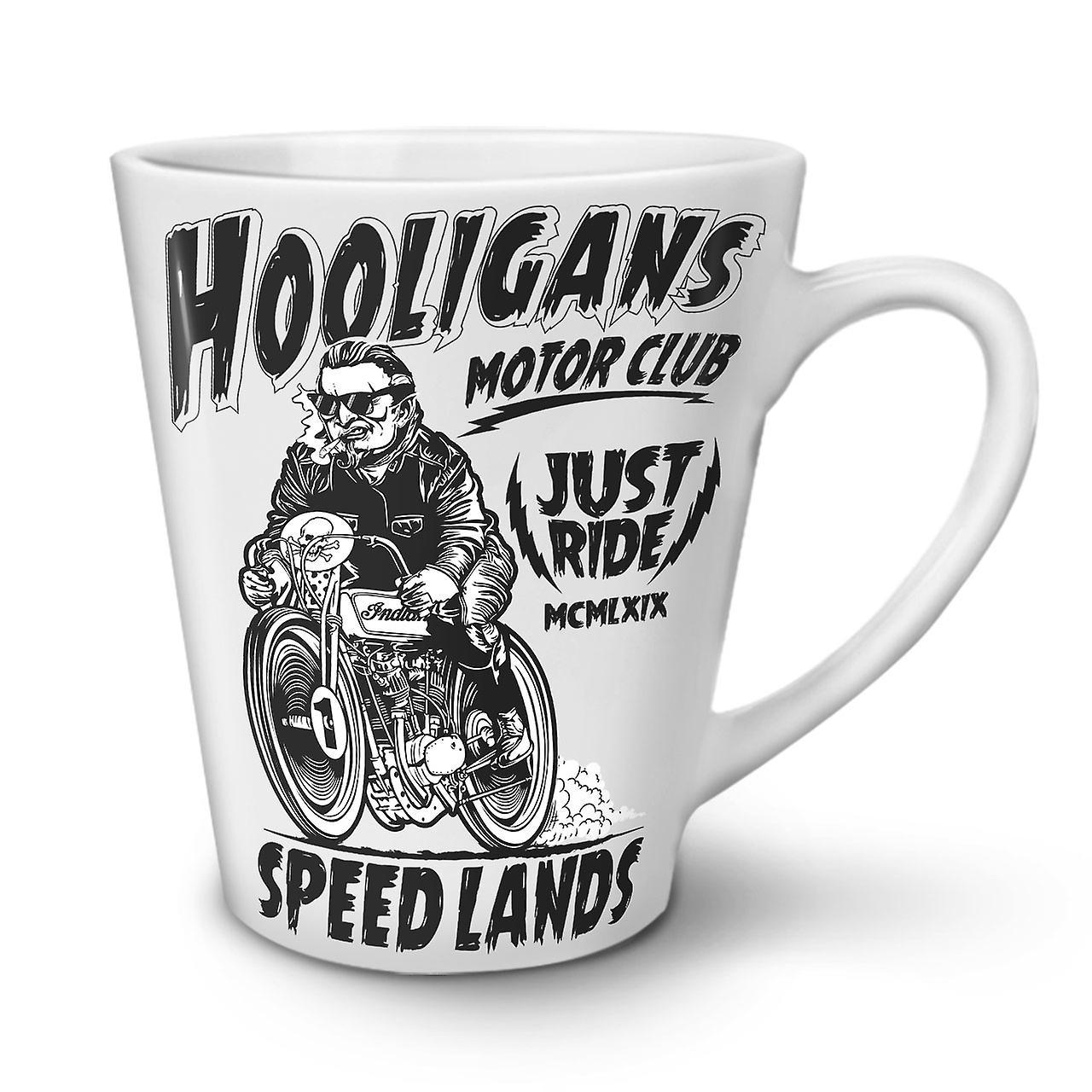 Nouvelle Hooligans OzWellcoda Blanche Latte En Café 12 Motor Club Céramique Tasse 92eDYHWEI