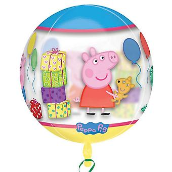 Anagram Peppa Pig Supershape Orbz Round Balloon