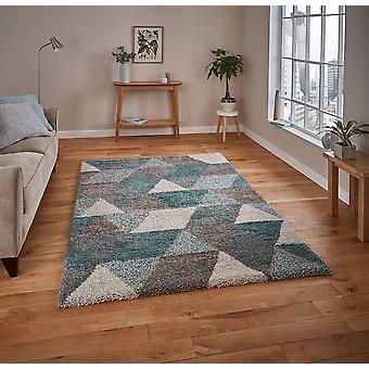 Koninklijke nomadische 7611 grijs Teal rechthoek tapijten Plain/bijna gewoon tapijten
