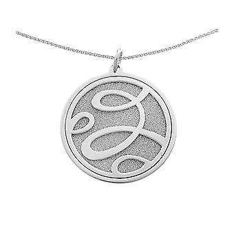 Orphelia Silver 925 Chain With Pendant Two Layered Glitter   ZH-7096
