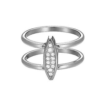 ESPRIT women's ring stainless steel cubic zirconia exclusive ESRG12856A