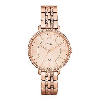 Fossil ladies watch wristwatch slim stainless steel Rosé ES3546 Jacqueline