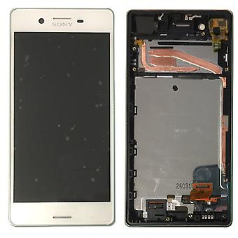 Sony display LCD complete unit with frame for Xperia X F5121 F5122 white spare parts