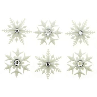 Dress It Up Holiday Embellishments-Fancy Snowflakes
