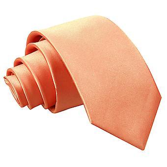 Coral Plain Satin regelmäßige Krawatte für jungen