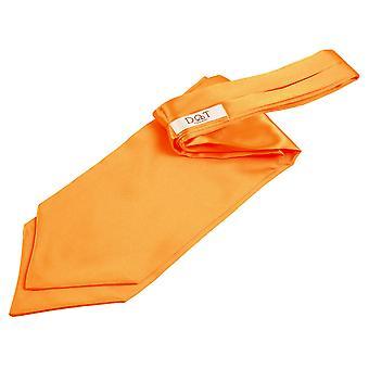 Fluorescerande Orange oformaterad Satin själv knyta bröllop Cravat