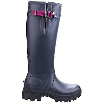 Hunter Balmoral Womenfts Navy Adjustable Wellington Boots