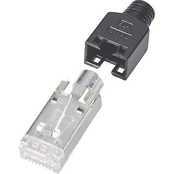Hirose elektroniske TM 11 8P8C RJ45 stik, lige sort
