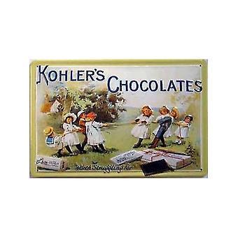 Kohlers Chocolates Emsbossed Steel Sign