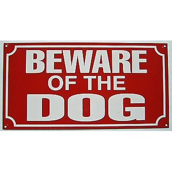 Beware Of The Dog Enamelled Steel Wall Sign 230Mm X 120Mm