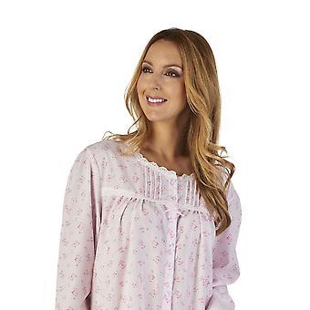 Slenderella ND2202 Women's Sprig Polycotton Floral Night Gown Loungewear Nightdress